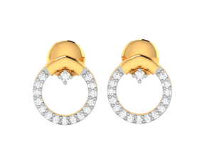 Women earrings 3dm render detail wedding hoophuggie