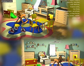 Nursery Room 1 3D asset