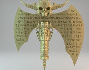 3D printable model The Marauder Axe Doom Eternal