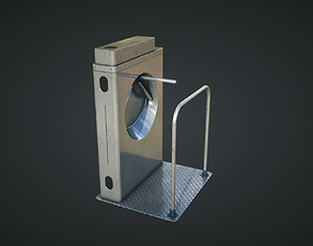 Inteligent Security Gate 3D asset