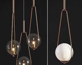 3D model Pendant Lamp Loop Brass