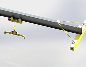 Warehouse Crane 3D model