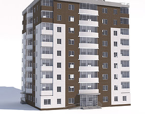 3D model Nine-storey apartment building