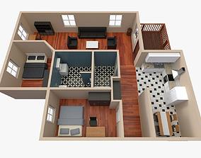 3D House - Floor Plan 2