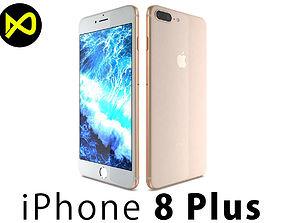 3D Apple iPhone 8 Plus Gold