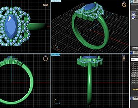 Cocktail Ring Design sku RG-029-SS 3D printable model
