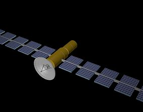 3D asset VR / AR ready Low poly satellite 4