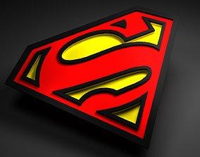 superman logo animated 3D asset