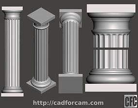 Doric Column - 3d model for CNC - DoricColumnCFC01