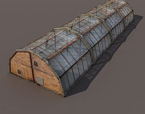 game-ready Green House Low poly 3d model