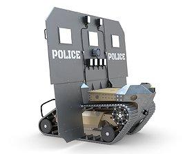 RBS1 SWAT BOT Robotic Ballistic Shield 3D model