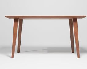 Dark Wooden Dining Table 3D model