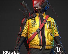 3D model Cyberpunk Mercenary Character