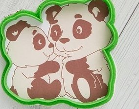 Pandas cookie cutter for professional 3D printable model