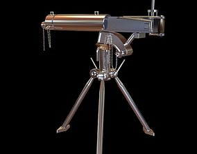 3D model Detailed Telescope on Tripod Stand
