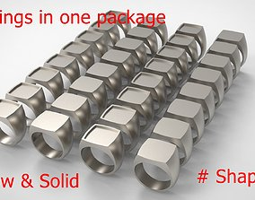 3D printable model Signet Men Ring Pack No 38