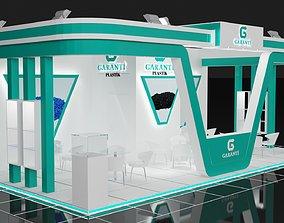 Garanti Stall Size 10 m x 5 m Height 366 cm 3D model