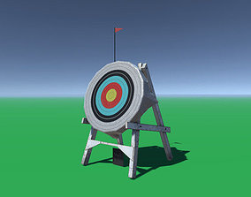 Archery Target 3D model animated