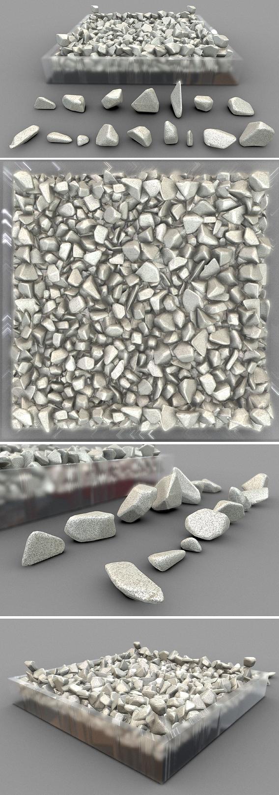 16 different shaped sandstones