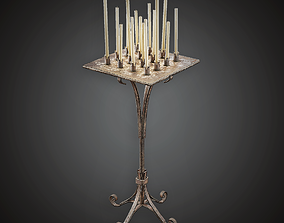 3D asset Candle Stand - MVL - PBR Game Ready