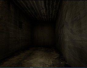 3D asset Old Concrete Wall 01 03 B