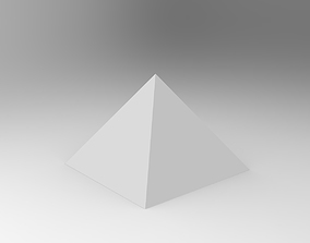 3D print model illustration pyramid
