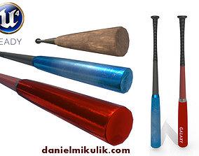 3D asset PBR Baseball Bat