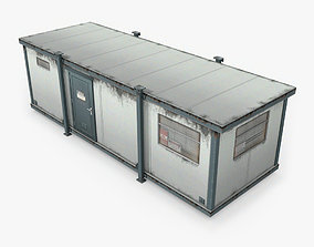 3D model game-ready Portacabin