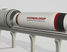 technology Hyperloop Train 3D