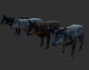 3D model Wolf Animals