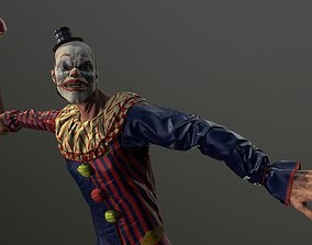 Clown Man - Game Ready Low-poly 3D model animated
