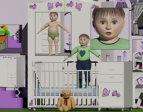 Baby or Toddler With Room Set Unisex 3D