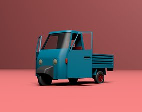 Micro flatbed pickup truck 3D asset