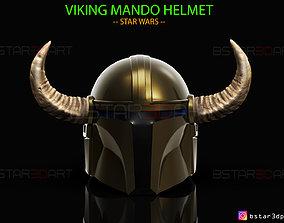Viking Mandalorian Helmet - Goat Horns - High Quality 1