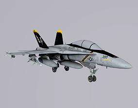 McDonnell Douglas FA-18 Hornet 3D asset