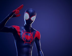 Miles Morales Suit 3D RIGGED fantasy rigged
