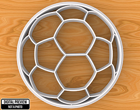 3D printable model Soccer Football Ball Cookie Cutter