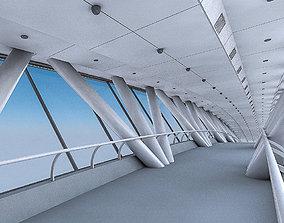 Kingdom Centre Skybridge Interior 3D asset low-poly