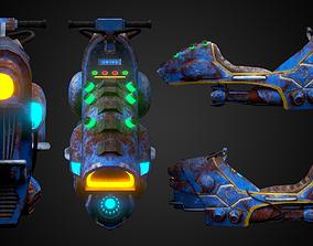 3D model Sci-fi bike