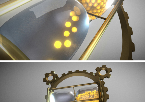 Hourglass Clockwork Animation
