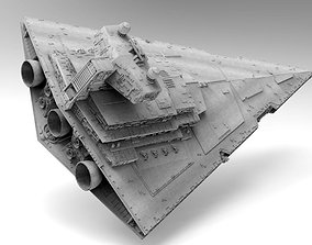 3D Imperial II Star Destroyer Star Wars - High detail