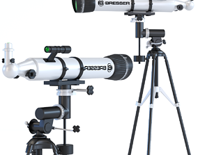 Telescope Bresser 3D model