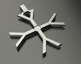 Pinwheel Letter Y Necklace 3D print model