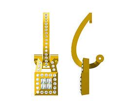 3D print model Minimalist aquare gold earrings jewelry 2