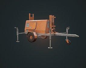 Generator - Light Generator - Orange Generator 3D asset 2