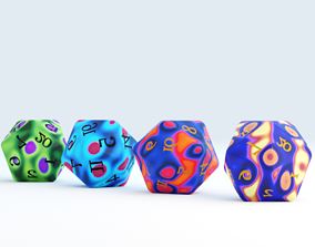 3D D20 Magic Dice Set