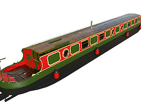 English Canal Boat 03 3D asset