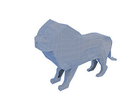 3D model Very low poly lion