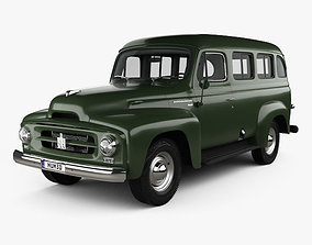 International Harvester R-110 Travelall 1953 3D model