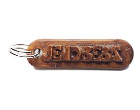 JENOBEBA Personalized keychain embossed 3D printable model